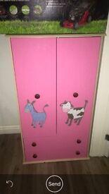 Girls pink wardrobe. Beautiful condition