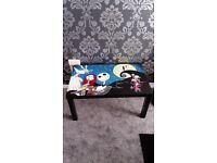 Hand painted nightmare before Christmas coffee table excellent condition