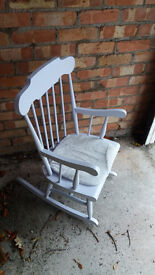 Lovely Shabby Chic Rocking Chair !!!!