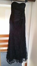 Evening dress - Delicate Black Lace - Size M