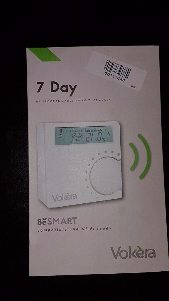 Vokera 7 Day Be Smart Wifi Ready Rf Programmable Room Thermostat