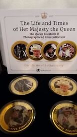 Queens collection (4) £5 coins