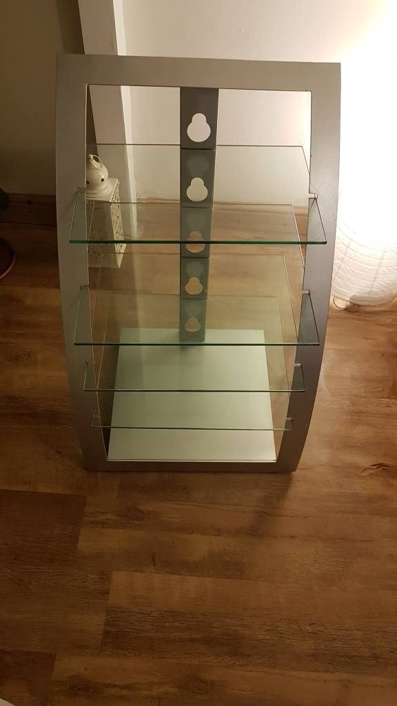 Media stand (metal/glass)