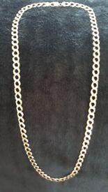 9 crt gold heavy mens curb chain 53.180gms
