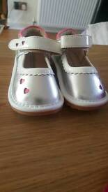 Size 3 silver shoes baby size