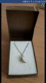 Silver Shoe Necklace