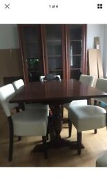 Vintage trestle leg dining table