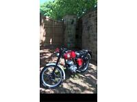 BSA BANTAM. 175cc. 1957 CAFE RACER STYLE UNFINISHED PROJECT NO TEXTS !!!