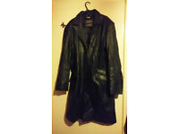 Real leather trench coat (size M)