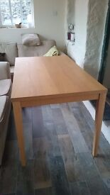 Oak Veneer Dining Table seats 4