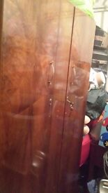 CUPBOARD FOR CLOTH REAL WOOD DARK BROWN USED BUT IN GOOD CONDITION