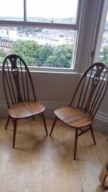 Ercol Dining Chairs x 6,