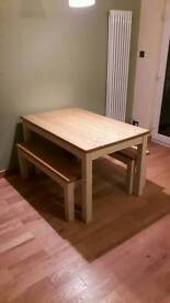 Country Style Kitchen Table and Benches