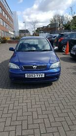 Vauxhall Astra 1.6 2004 (53 plate) 5 doors Excellent Condition,Guaranteed Low Mileage, Long MOT