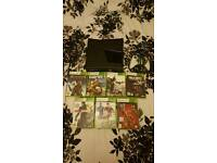 XBOX 360 SLIM WITH 7 GAMES AND 250GB HARD DRIVE
