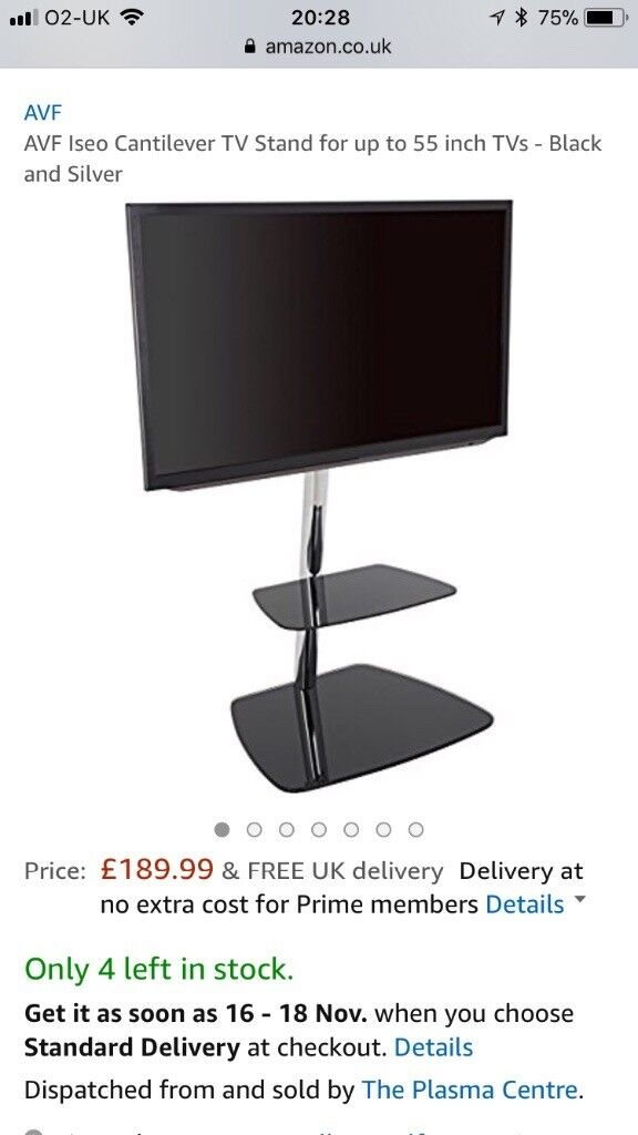 Brand New Cantilever TV Stand still in original packing