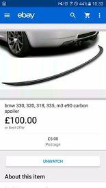 Bmw carbon spoiler