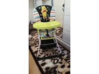 Baby Deluxe Highchair £25; Sit-Me-Up Feeding Booster Seat £20; Musical Bouncer £20