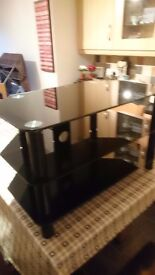 Glass tv display cabinet