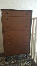 G Plan (E Gomme) Tall Boy Chest of Drawers