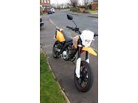 Ajs jsm 125cc road legal supermoto motobike