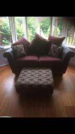 3+2seater sofas +footstall