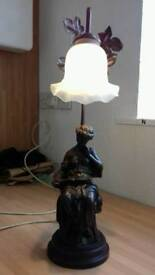Lovely statue table lamp