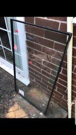 Glass for door panel