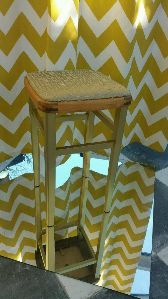 Fabulous Gold Wooden Stool In Mapperley Nottinghamshire Gumtree Machost Co Dining Chair Design Ideas Machostcouk