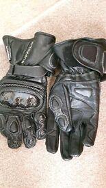 Buffalo biker leather gloves