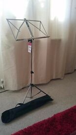 Brand New Stagg music stand with bag