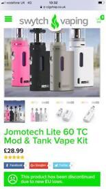 Jomotech Lite Mod & Tank Vape Kit Pink New