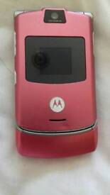 Motorola V3 Mobile Phone Bubblegum pink