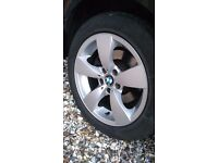 "17"" ALLOY GENUINE BMW SET OF 4 WITH GOOD TYRES"