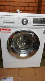 LG white washing and drying machine