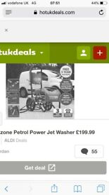 Petrol pressure washer good working order