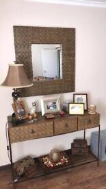 Mirror and matching dresser table (set only)