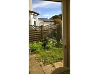 Sliding patio doors in white PVC. Only installed 7 years ago by Nolan. W1.96m, H2.07m