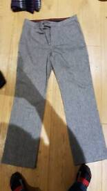 Grey and black trousers