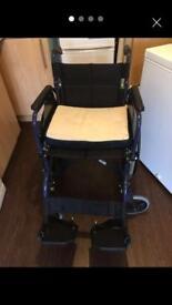 Wheelchair with cushion