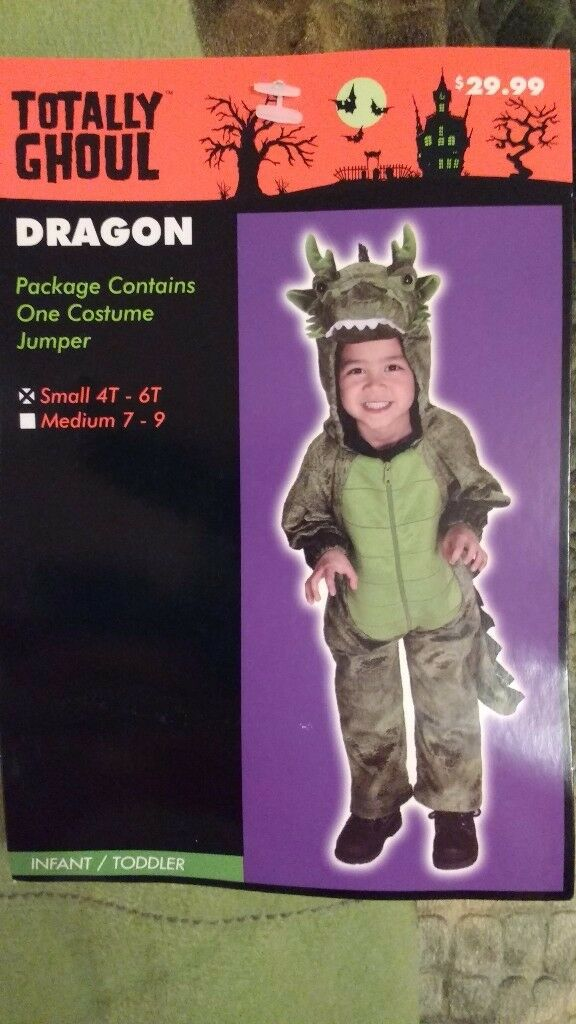 Child's Dragon Halloween Costume, brand new with tags