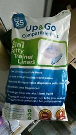 Potty trainer liners