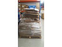 Pallet of used boxes/cartons various sizes mainly small/medium
