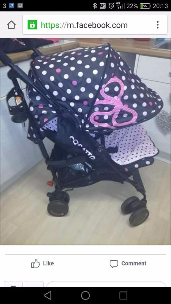 Cosatto bow stroller basically new