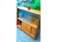 Bookcase Display Cabinet Wood Well Made (Not MDF/Chipboard) Sliding Doors Excellent Condition