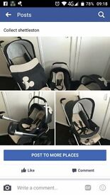 Mickey mouse 3 in 1 pram