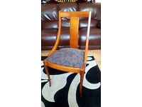 Quality solid wood dining chairs x 6