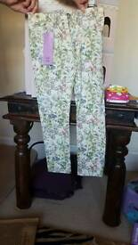 Tesco flowered trousers bnwt
