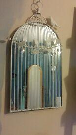 White birdcage mirror