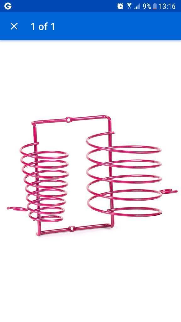 Hairdryer Straightener Holder Wall Mount